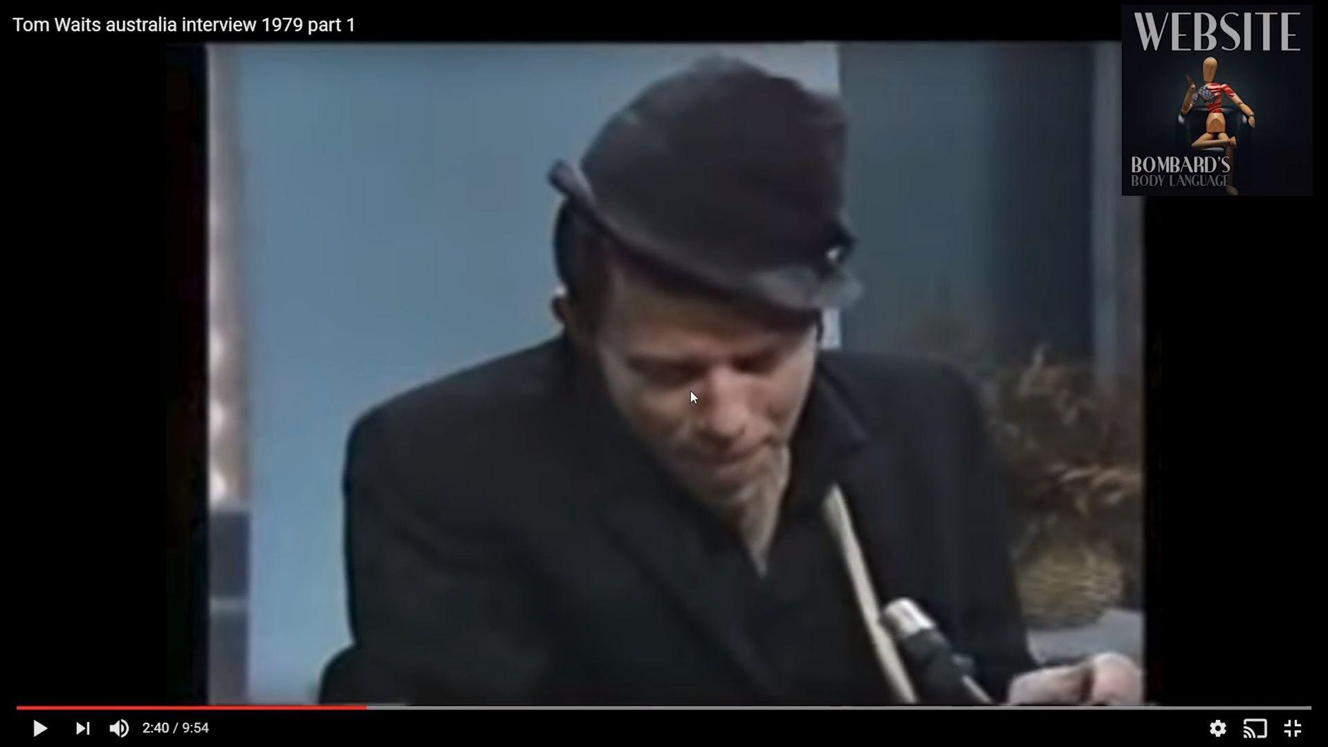 Body Language - Tom Waits - What Anxiety looks like