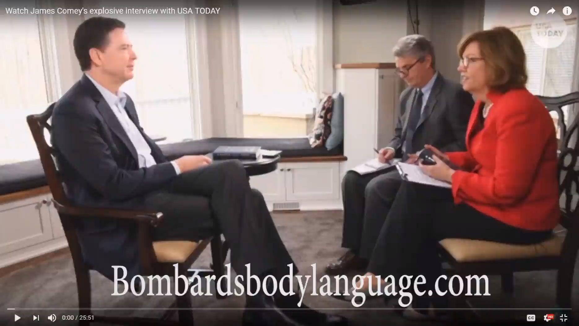 bombards body language