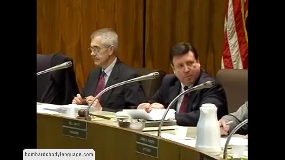 Body Language - Gaslighting Government Board Meeting mirrors The Federal Govt