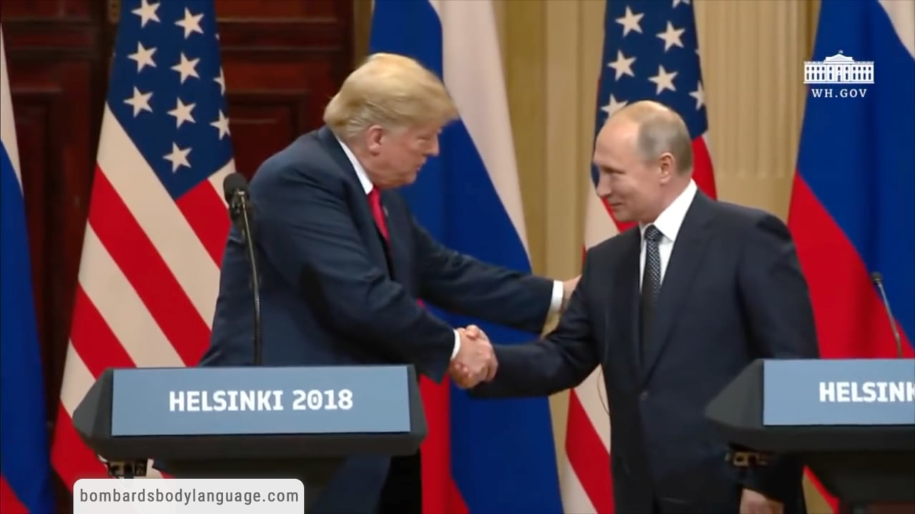 Body Language - Trump and Putin Meeting in Helsinki