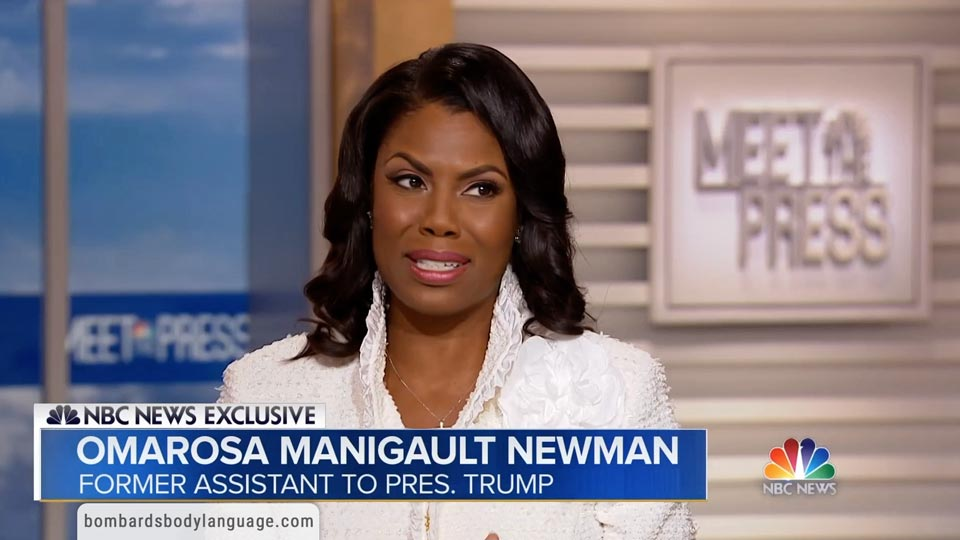 Body Language - Omarosa On Meet The Press
