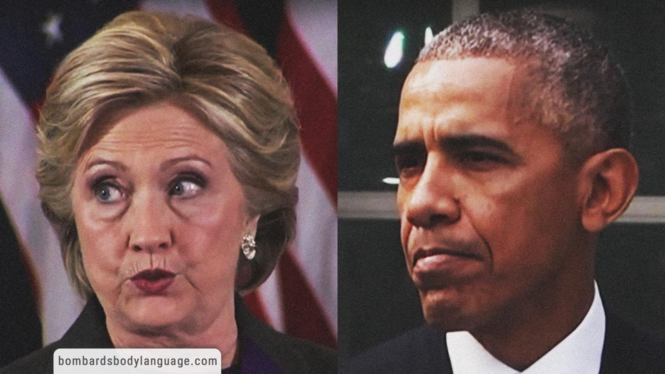 Body Language - Hillary Clinton & Barack Obama Concession Speech