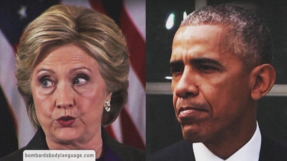 Body Language - Clinton & Obama Concession Speech