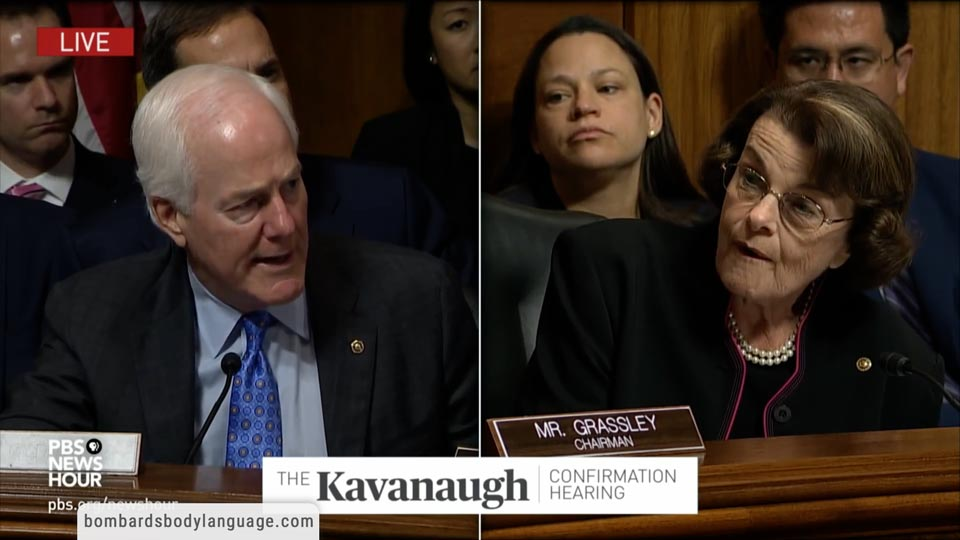 Body Language - Dianne Feinstein Kavanaugh Hearing