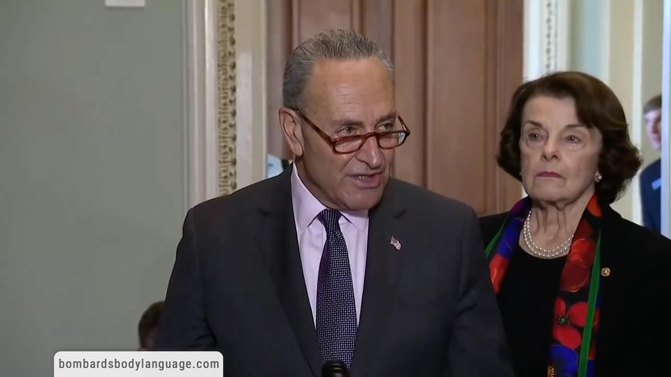 Body Language - FBI Report Dianne Feinstein & Chuck Schumer Press Conference