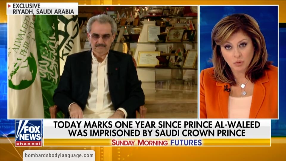 Body Language - Imprisoned Prince Al-Waleed of Kingdom Holding Company