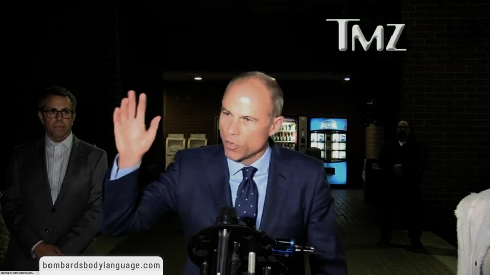 Body Language - Michael Avenatti Speech Arrested Released on Bail