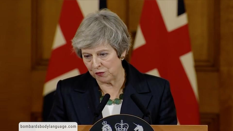 Body Language - Theresa May's Brexit statement from Downing Street