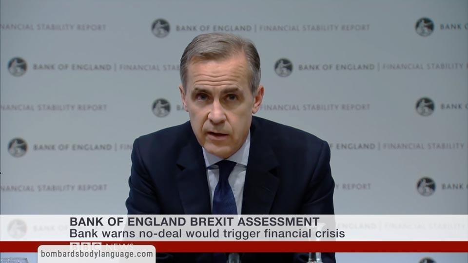 Body Language - Mark Carney Bank Of England Governor