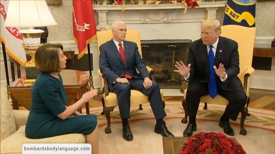 Body Language - Trump, Pelosi Schumer & Government Shutdown