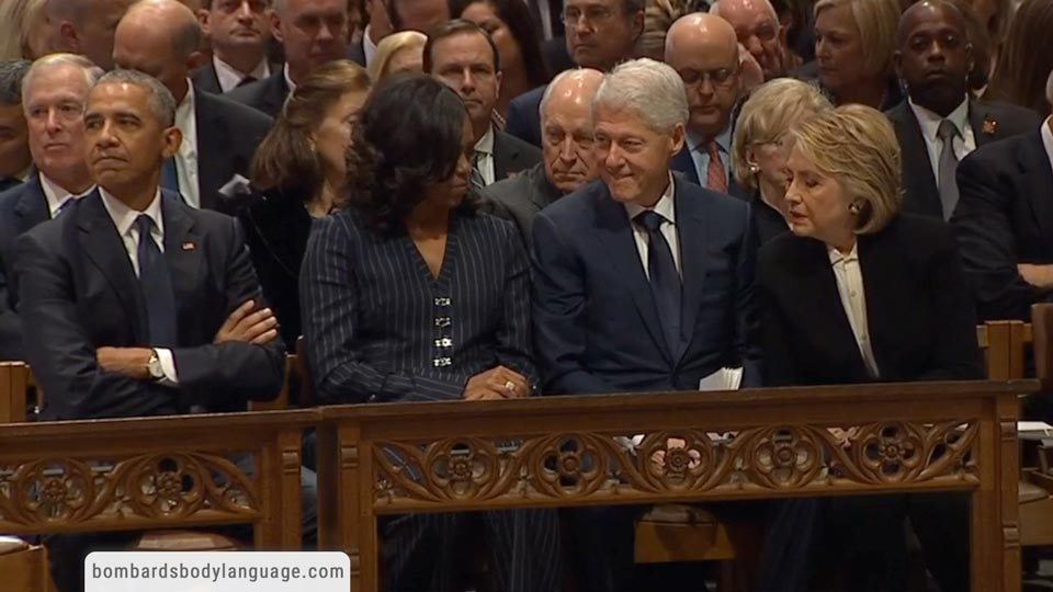 Body Language - The Bush Sr Funeral