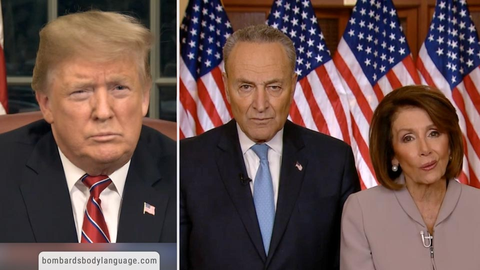 Body Language - Government Shutdown Trump Vs Chuck & Pelosi