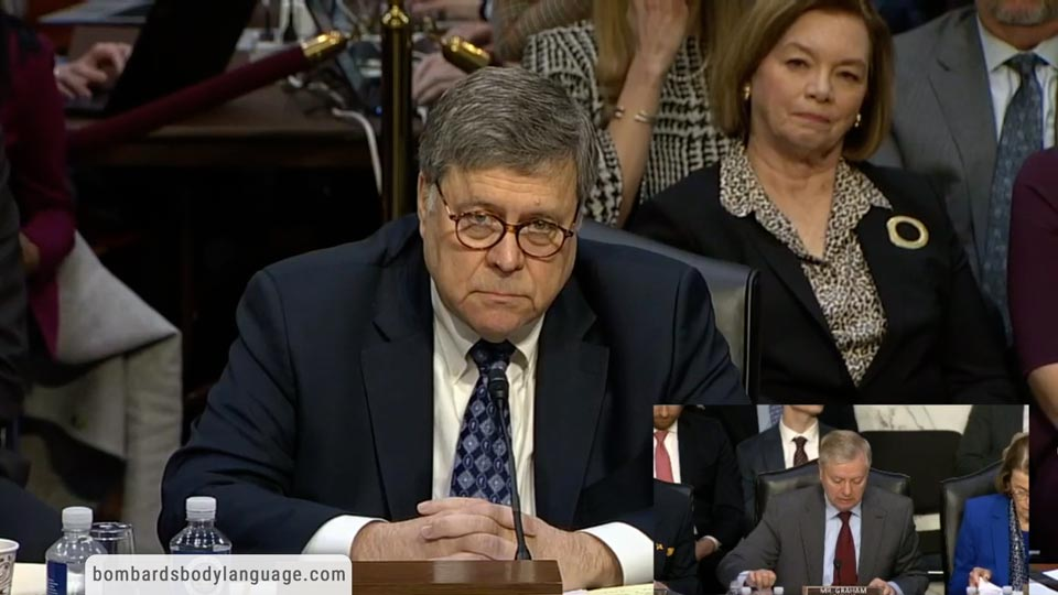 Body Language - William Barr A.G. Confirmation Hearing