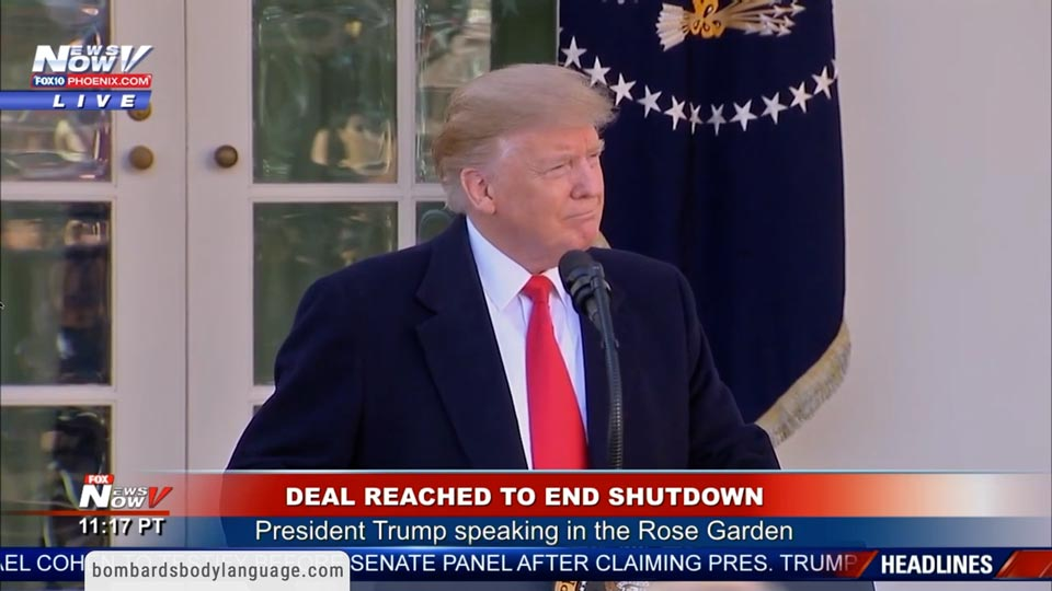 Body Language - Donald Trump Deal To End Shutdown