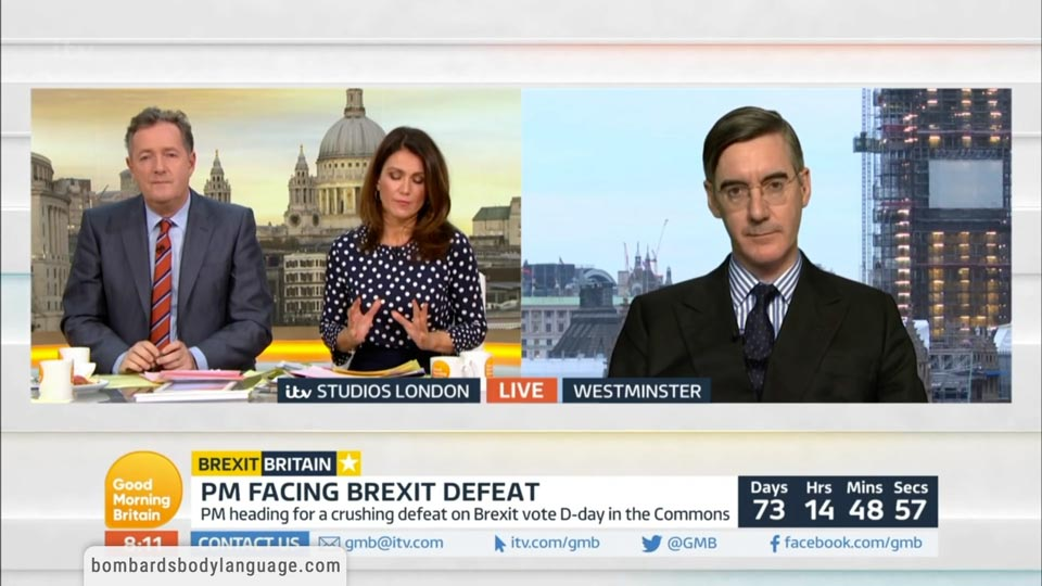 Body Language - Piers Morgan Vs Susanna Reid Vs Jacob Rees-Mogg