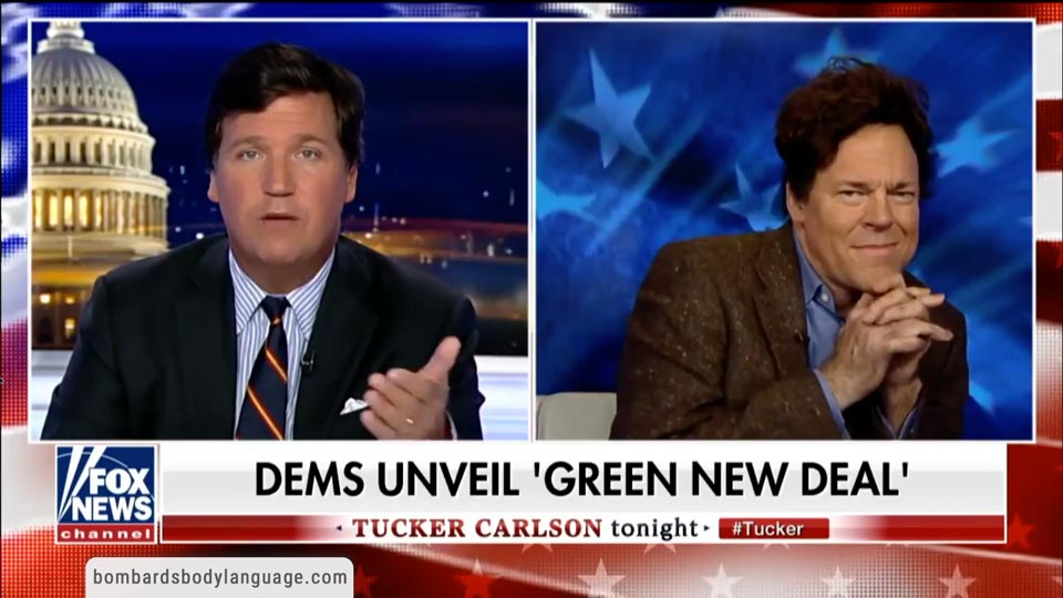 Body Language - AOC's Adviser 'Green New Deal' on Tucker Carlson