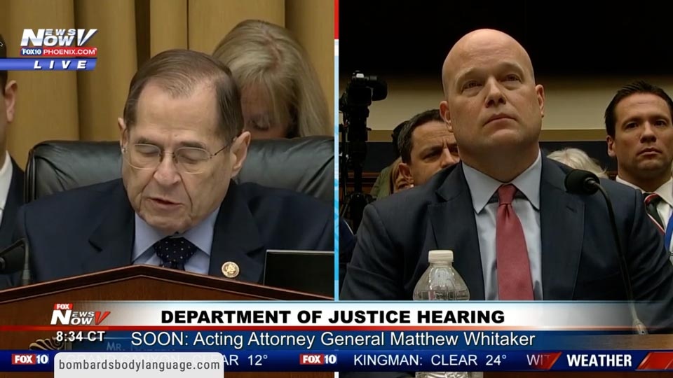 Body Language - Whitaker Vs Nadler Vs Jordan House Hearing