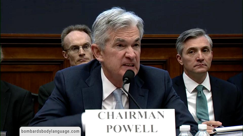 Body Language - Fed Chair Jerome Powell Before Congress