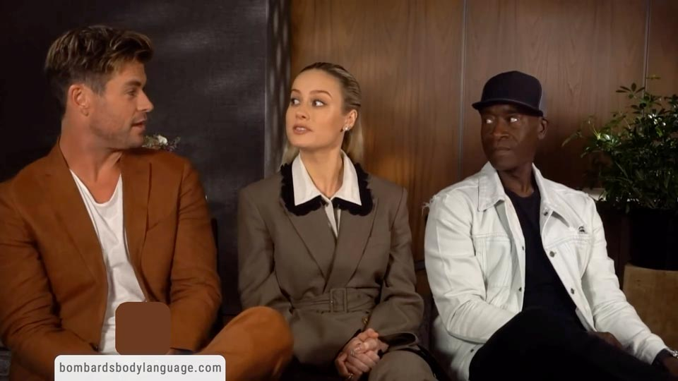 Body Language - Avengers Endgame Brie Larson, Chris Hemsworth and Don Cheadle