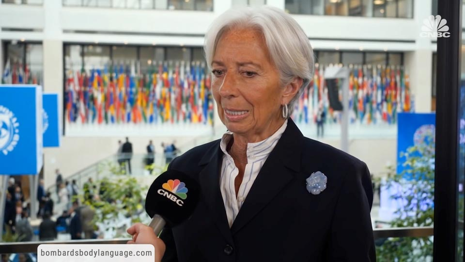 Body Language - IMF's Christine Lagarde Cryptocurrencies Shaking The System