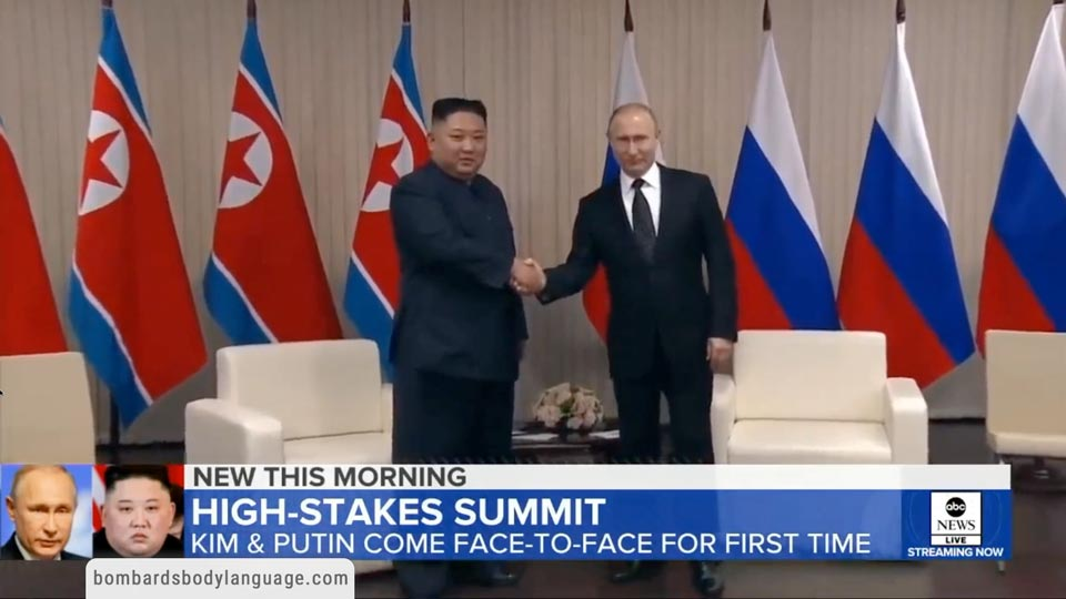 Body Language - Kim Jong Un & Vladimir Putin Meeting in Russia