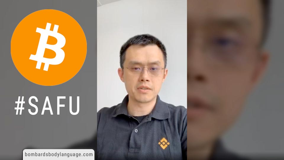 Body Language - Binance Bitcoin Hack Changpeng Zhao #SAFU