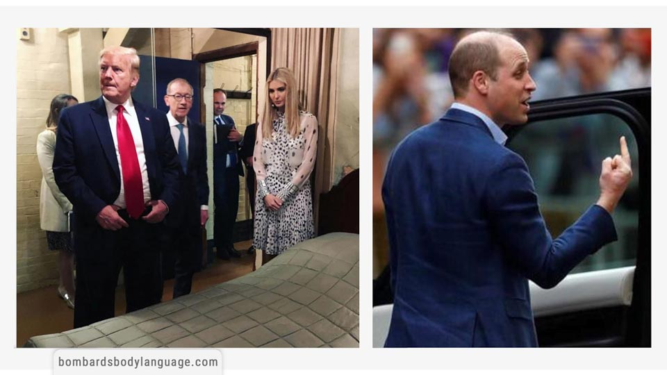 Body Language - Pictures of Trump, Ivanka & Prince William