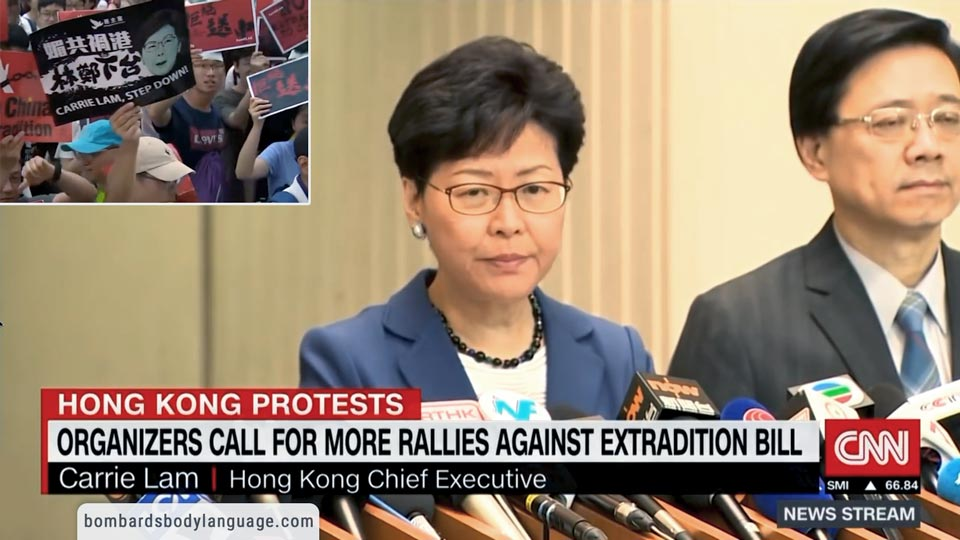 Body Language - Carrie Lam Extradition Protest Hong Kong