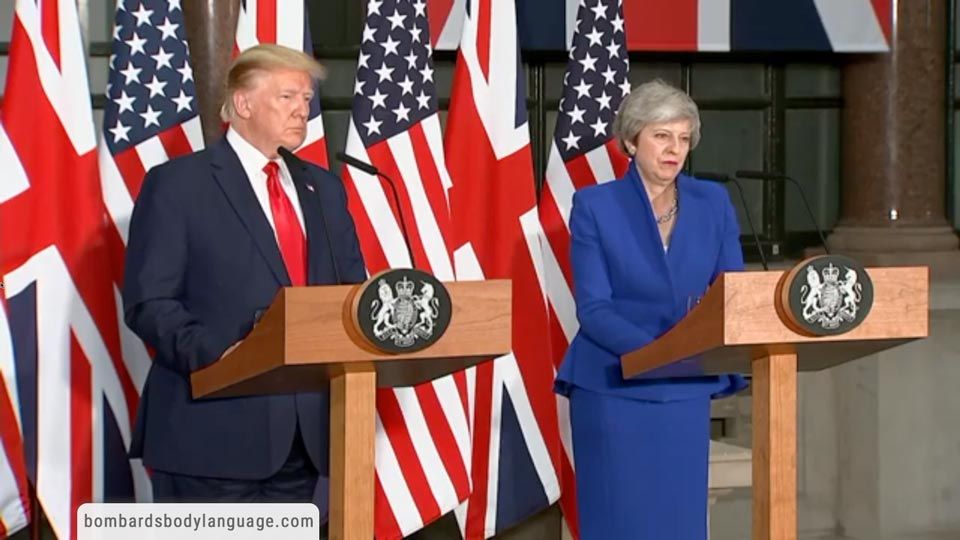 Body Language - Trump & May, UK State Visit
