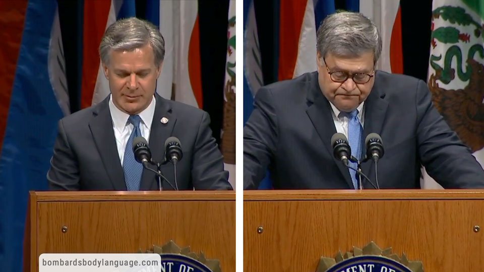 Body Language - DOJ Barr & FBI Wray Meeting