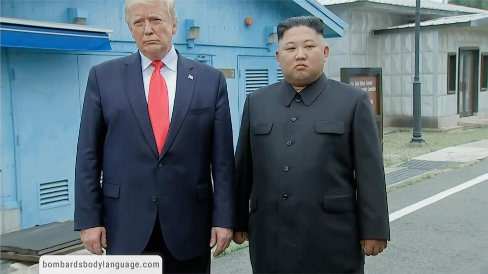 Body Language - Trump Kim Korean Border Meeting