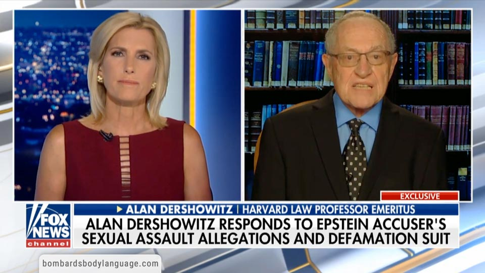 Body Language - Epstein Accuser, Alan Dershowitz's Response to Virginia Giuffre