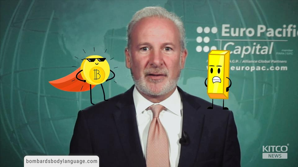 Body Language - Peter Schiff Gold Vs Bitcoin