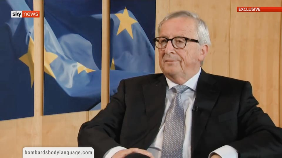 Body Language - Jean-Claude Juncker Confident Brexit Will Happen