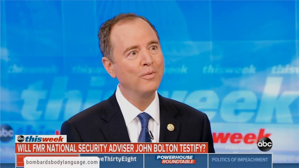 Body Language - Adam Schiff On John Bolton Testimony