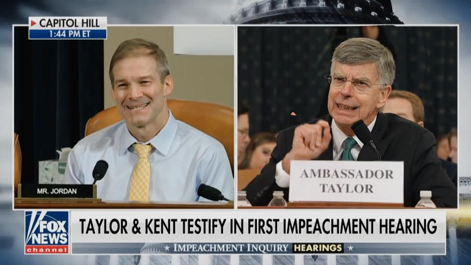 Body Language - Jim Jordan Vs Ambassador Taylor