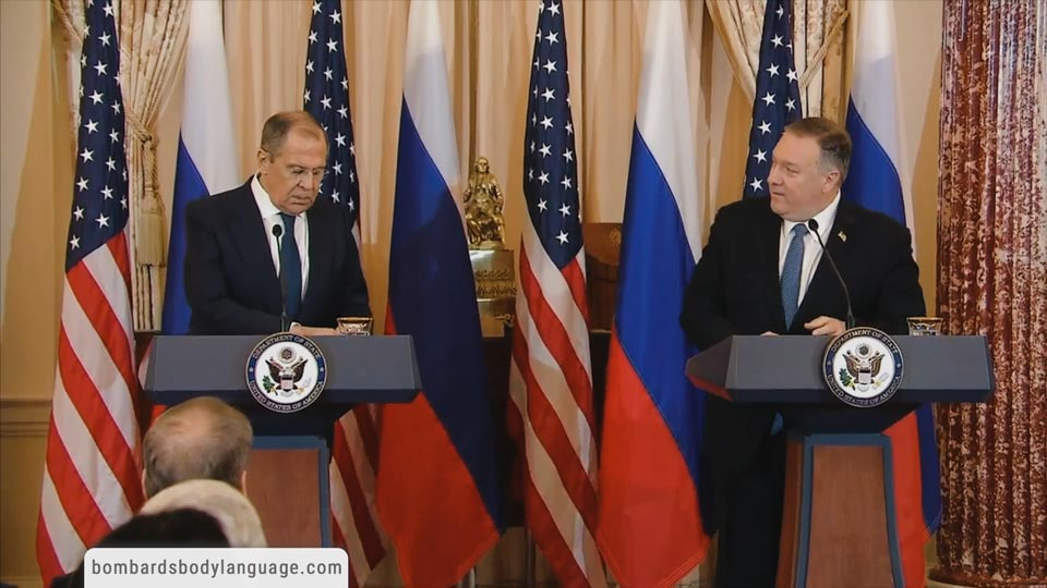 Body Language - Russian Relations Pompeo & Lavrov