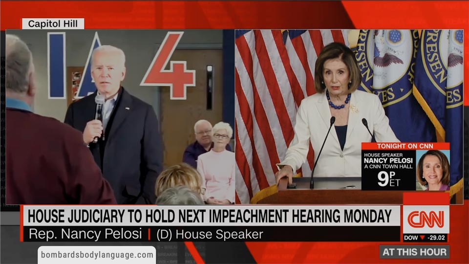 Body Language - Pelosi & Biden, When Politicians Attack