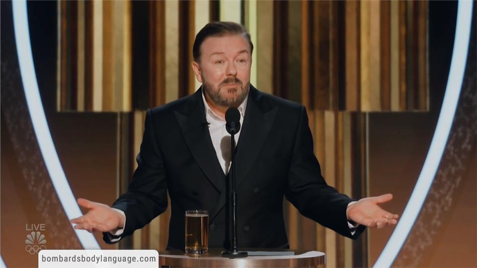 Body Language - Ricky Gervais Golden Globes