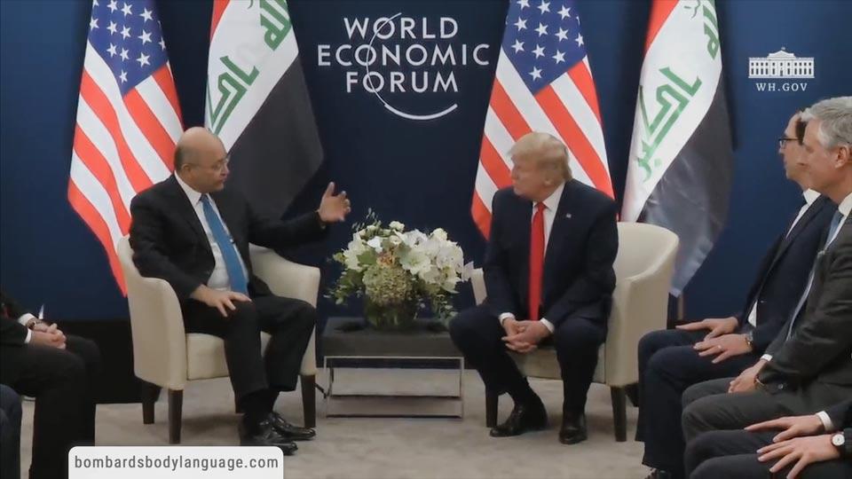 Body Language - Davos 2020 Trump & Iraqi President Barham Salih