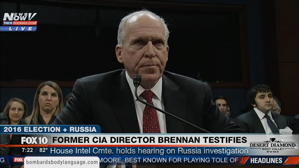 Body Language - Former CIA Director Brennan Testimony