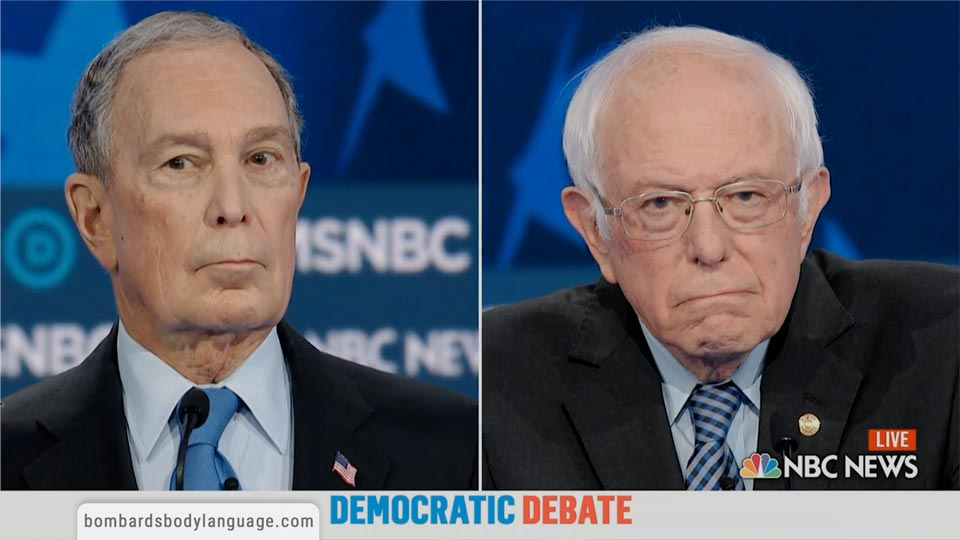 Body Language - Mike Bloomberg First Debate Performance