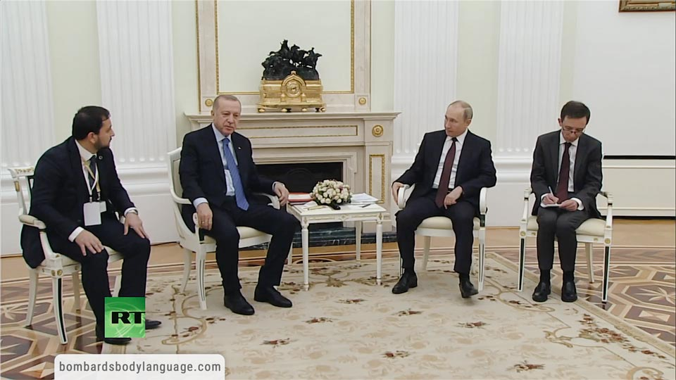 Body Language - Putin and Erdogan Moscow Meeting, High Tensions