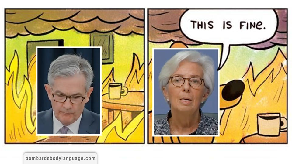 Body Language - Market Meltdown, FED Powell & ECB Lagarde