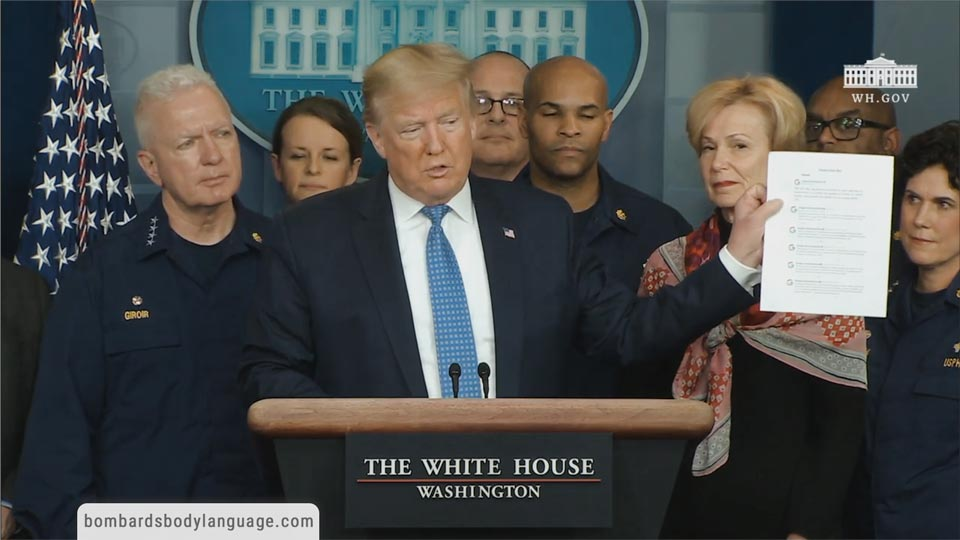 Body Language - Trump On FED & Coronavirus Task Force