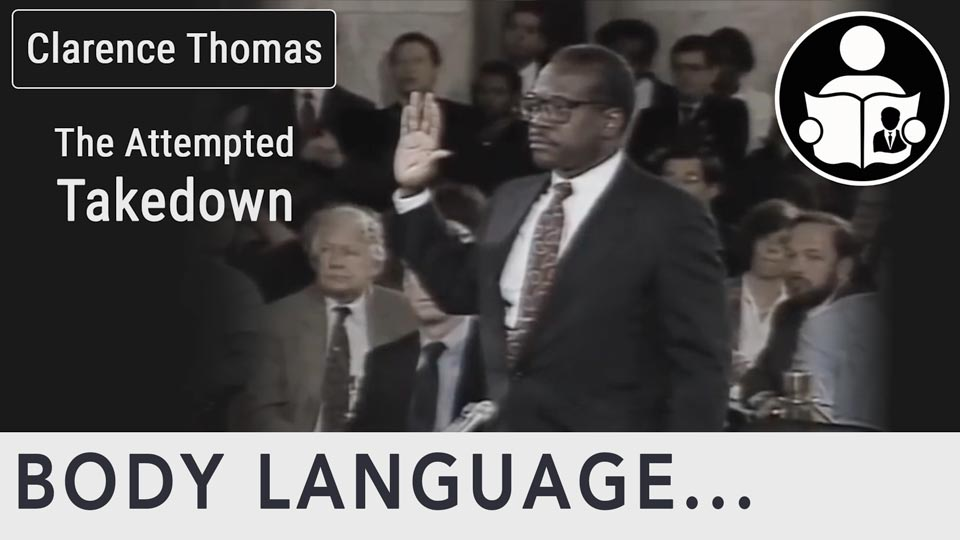 Body Language - Clarence Thomas Take Down Attempt