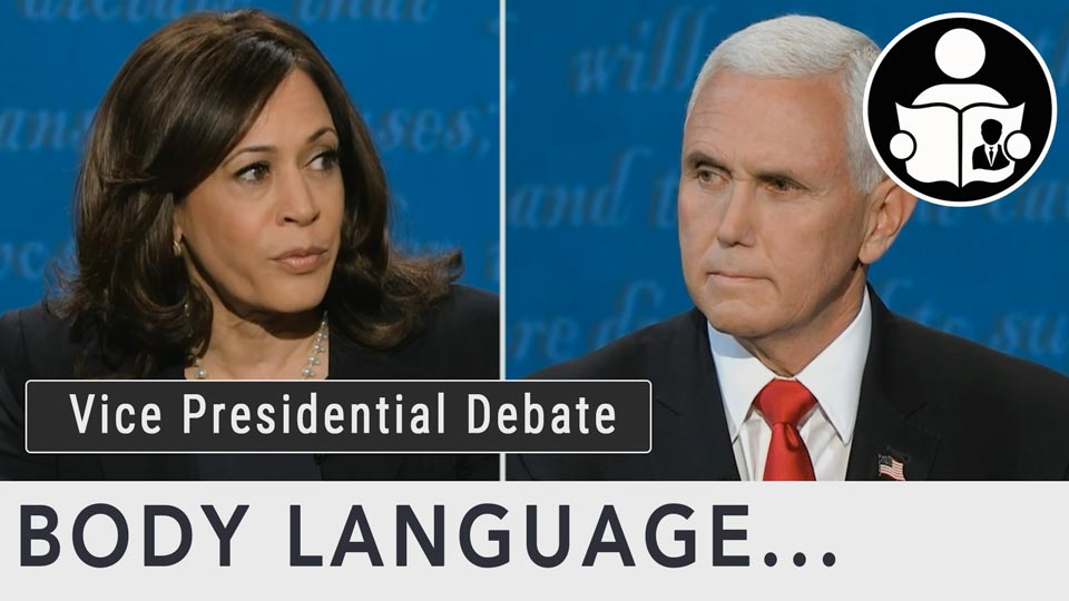 Body Language - Vice Presidential Debate 2020 Pence Harris