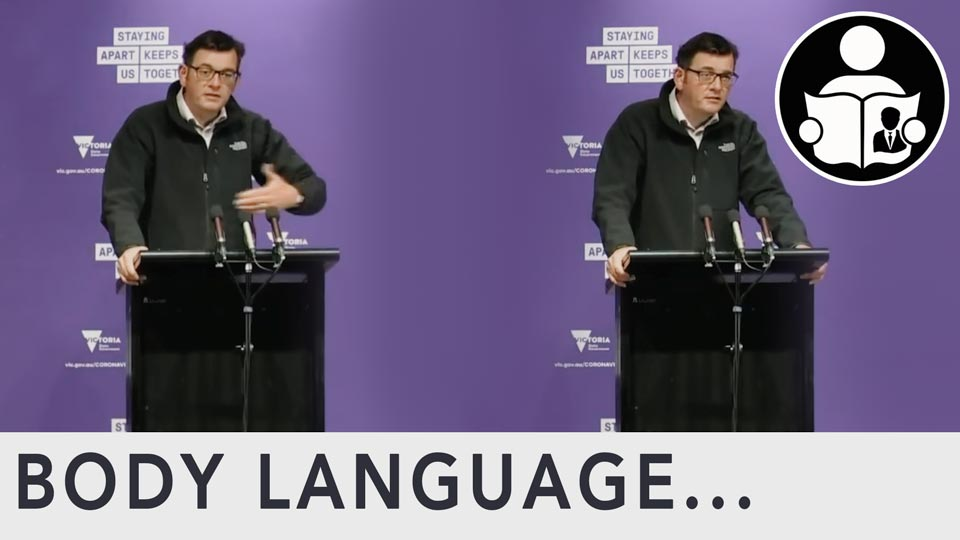 Body language - Victoria Premier, Covid Travel Restrictions
