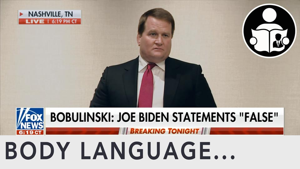 Body Language - Tony Bobulinski, Biden China FBI