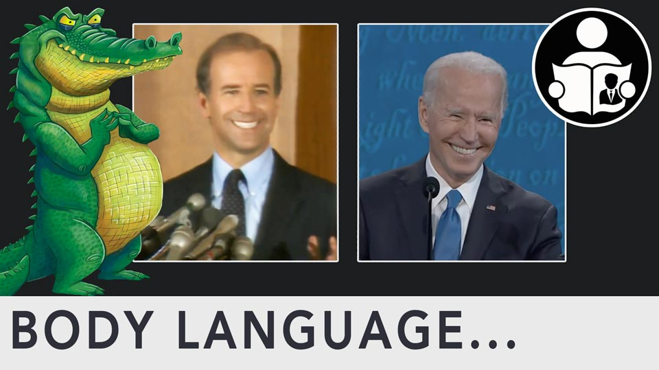 Body Language - Joe Biden, Crocodile Smile
